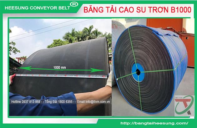 Băng Tải Cao Su Trơn Khổ B1000