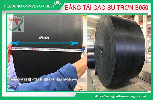 Băng Tải Cao Su Trơn Khổ Rộng B650