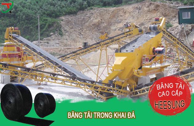 băng tải cao su dùng trong khai thác đá