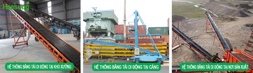 Hệ thống băng tải cao su di động